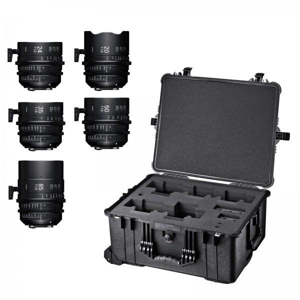 SIGMA KIT 5 Prime Cine Lens με τσάντα