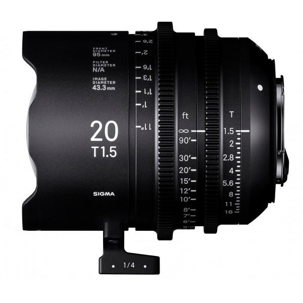 SIGMA 20mm T1.5 FF CINE Lens