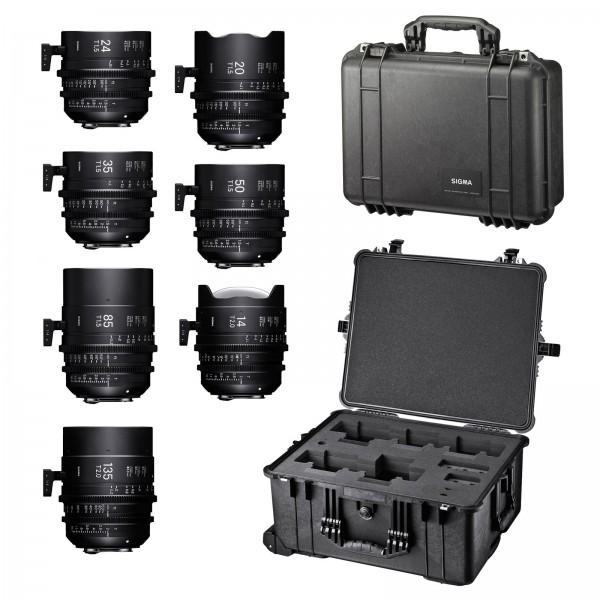 SIGMA KIT 7 Prime Cine Lens Set και 2 τσάν�...